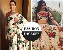 Fashion Faceoff: Deepika Padukone or Sonam Kapoor, who wore the floral Sabyasachi spring look better?