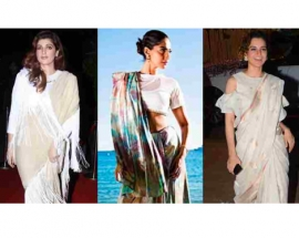 Sonam Kapoor, Kangana Ranaut, Twinkle Khanna: When celebs gave the humble sari a modern touch