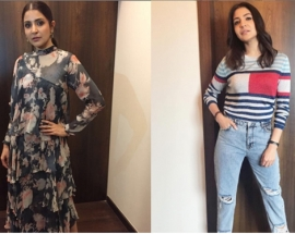 Anushka Sharma`s tomboy avatar or floral number — which do you like better?
