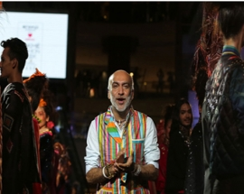 Designer Manish Arora recreates a magical rainbow at Lakmé Fashion Week.