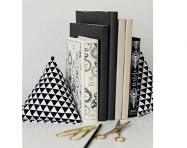 Cloth Pyramid-Style Book-ends
