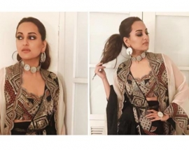 Sonakshi Sinha gives a contemporary touch to her traditional attire