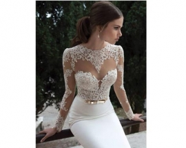20 Lace Wedding Dresses That Are Anything But Staid