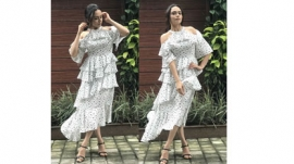 Actress Amruta Khanvilkar spotted in outfit by CAMLA