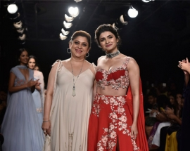 Prachi Desai Dazzles on the Runway in `Julie` By Julie Shah at Lakme Fashion Week W|F 18 Mumbai, August 2018