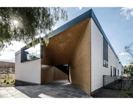 Modernistic Cube-Shaped House