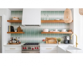 CREATIVE KITCHENS WITH GEOMETRIC-PATTERNED BACKSPLASHES