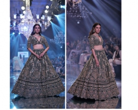 The B-Town beauty, Aditi Rao Hydari looked like a dream featured in KALKI Fashion unveiling its Mehrang Collection!