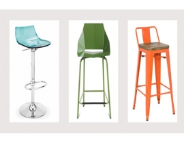 COLORFUL BARSTOOLS FOR AN INSTANTLY ENLIVENED HOME