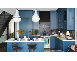MOST COMFORTING BLUE KITCHENS WE`VE EVER SEEN