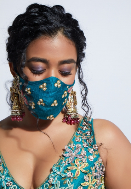KALKI Fashion Introduces Hand-Embroidered Wedding Masks For The Brides & Baraatis