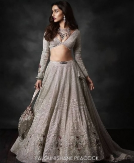 Veils, plunging necklines, tassels: Shraddha Kapoor looks ethereal in Falguni Shane Peacock bridalwear, sets the tone for upcoming wedding and festive season